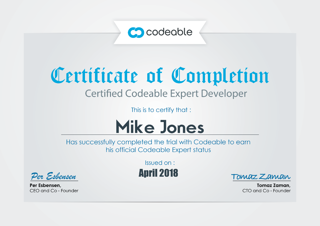 Codeable Expert Certificate